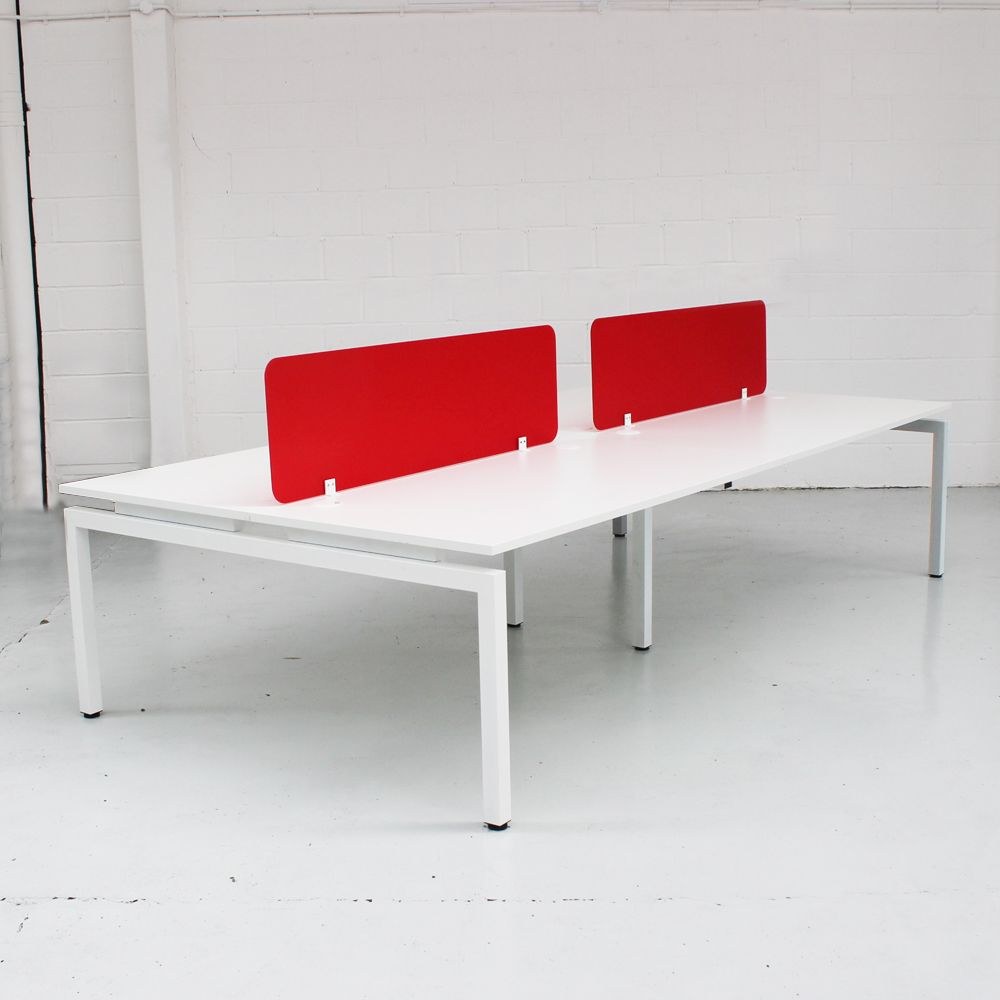 Flex New Bench Desk White White Or Silver Bench Desk